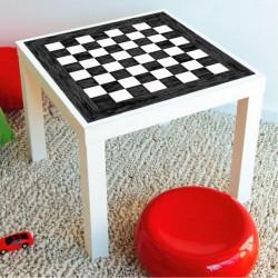 Stickers échecs pour table manque ikea 55x55cms