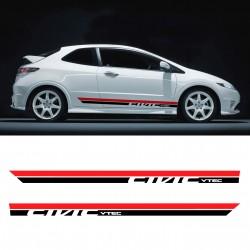 Bandes latérales pour Honda Civic Gen8