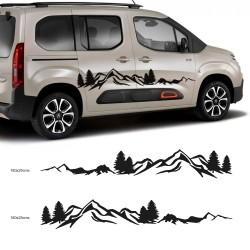 Autocollant de camping-car pour petits fourgons
