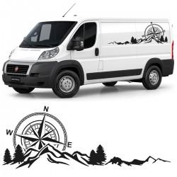 Classic Autocollant de camping-car pour fourgons
