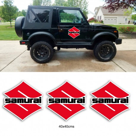 Suzuki Samurai Aufkleber Pack