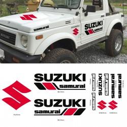 Set of stickers for Suzuki Samurai
