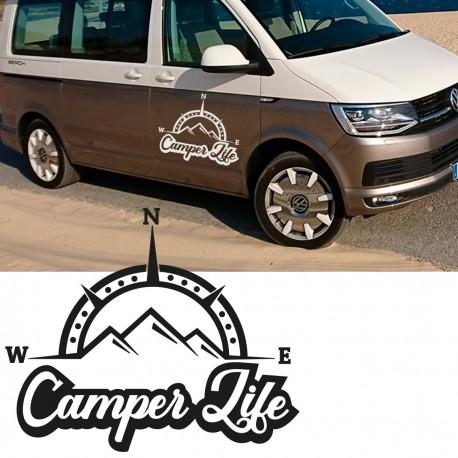Vinilo camper life para furgonetas o 4x4