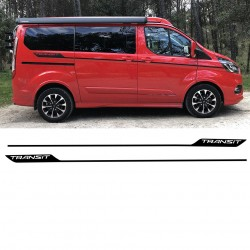 Stickers latéraux pour ford transit custom sport