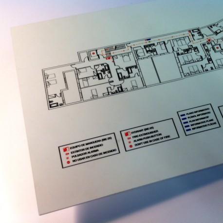 Placa indicación salidas emergencia fotoluminiscente