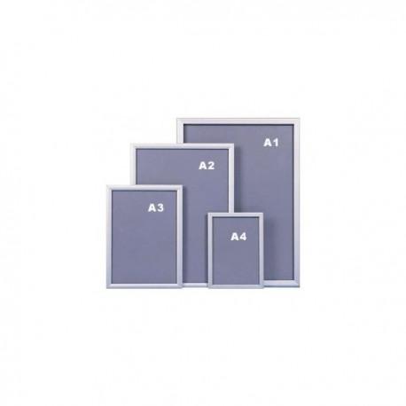 Marcos aluminio frontal abatible DIN A0