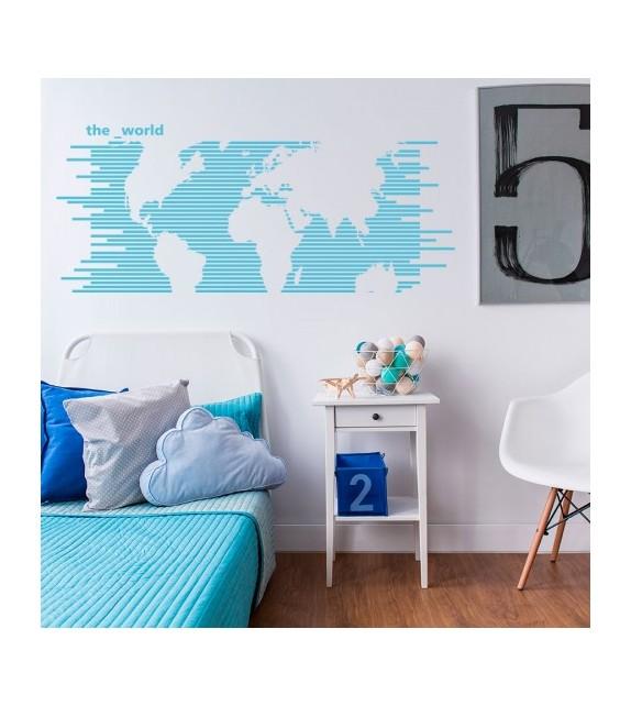 Lignes de carte du monde