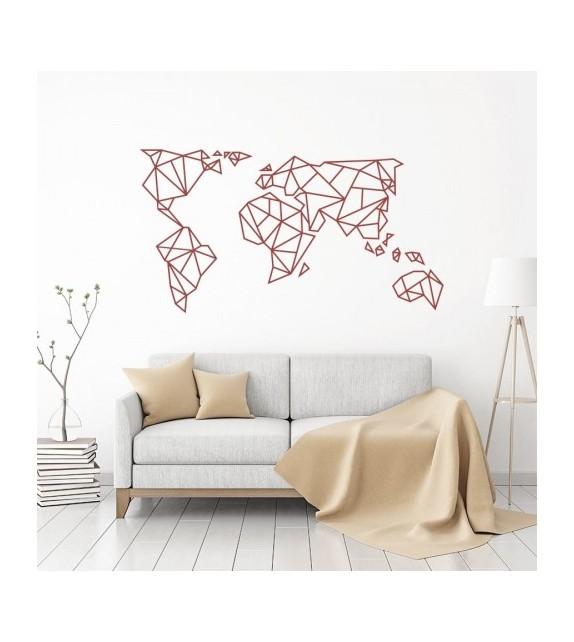 Carte du monde en origami