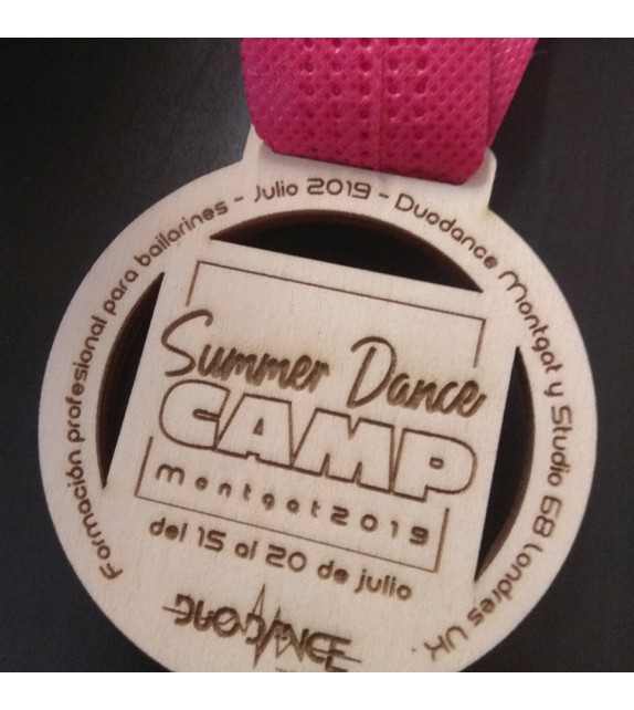 Summer model wooden medal