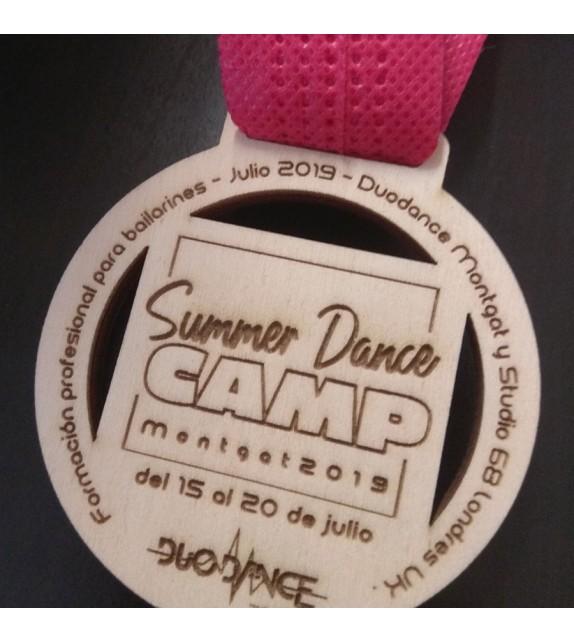 Medalla madera modelo Summer