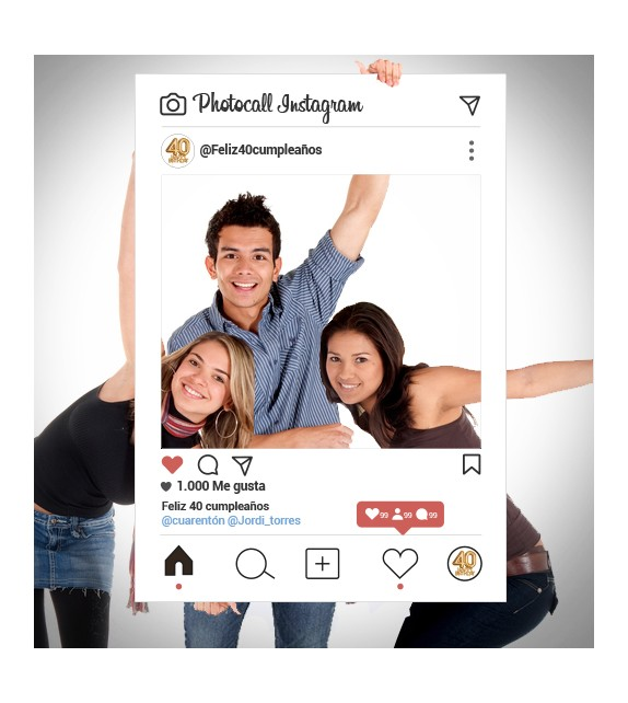 Photocall Instagram for celebrations