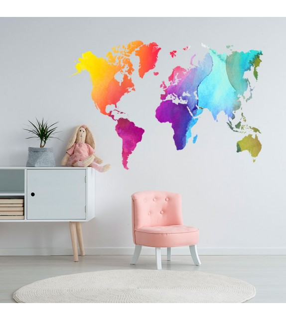 Mapamundi colorista