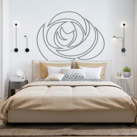 Tête de lit fleurie