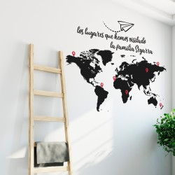 World Map Visited Places Customizable