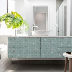 Vinyle design géométrique pour recouvrir les meubles