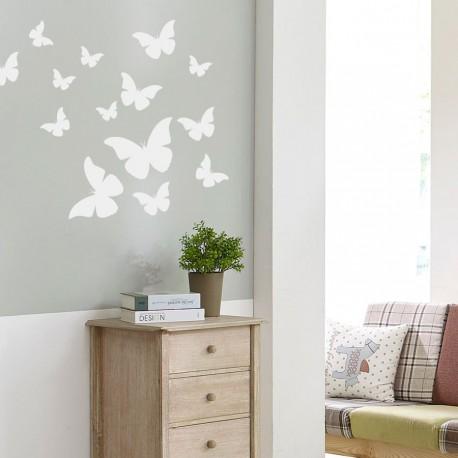 Dekorative Schmetterlinge