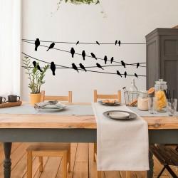 Vögel an Drähten