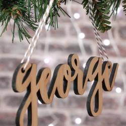 Nombres de madera para marcar regalos navidad