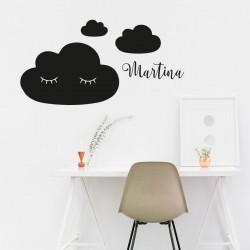 Nubes de pizarra con nombre personalizado