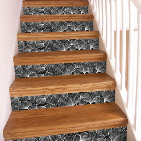 Stickers escaliers floraux