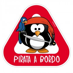 "Bebe a bordo ""pirata"" personalizable"