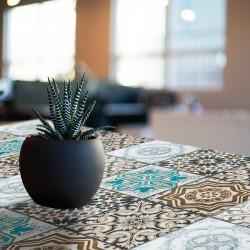 Vinyl adhesive design hydraulic tiles