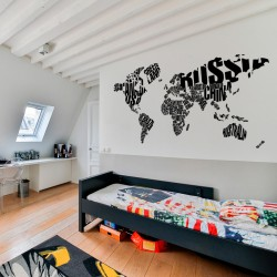 Typografische Weltkarte
