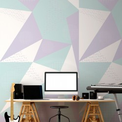 Mural patrón geométrico nórdico