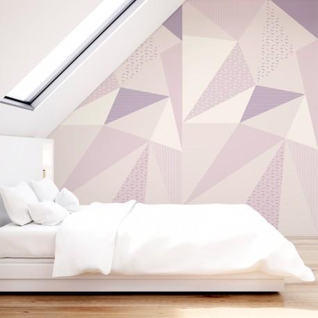 Peinture murale à motifs géométriques nordiques