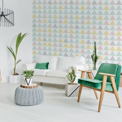 Nordic-style wall printed wall vinyl