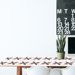 Decorative vinyl French hydraulic tile