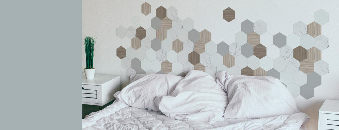 Geometric designs with natural textures